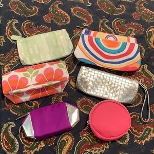 Set of 6 Small and Medium Clinique Makeup Bags